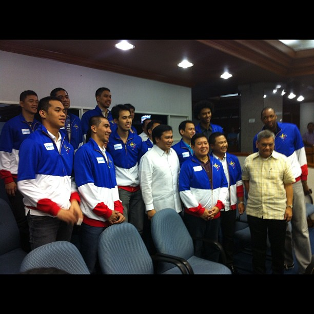 Smart Gilas at the Philippine Senate. Photo by Ayee Macaraig.