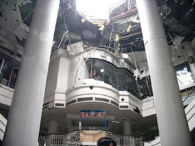 FLASHBACK. The site of the 2007 blast in Glorietta, Makati City. AFP