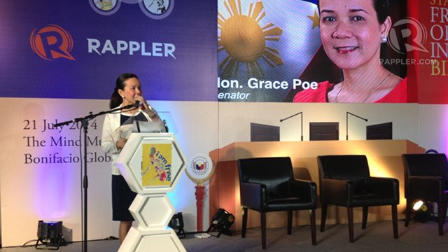 AUTOMATIC DISCLOSURE. FOI advocates like Senator Grace Poe say a Freedom of Information bill could have clarified the nature of the projects the DAP funded. Photo by Ayee Macaraig/Rappler