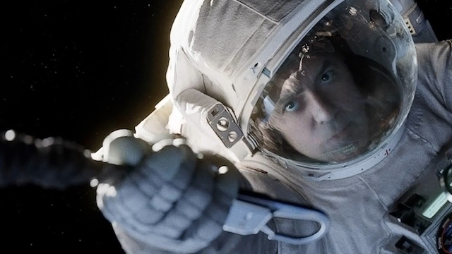OFF TO SPACE. George Clooney, as astronaut Matt Kowalski, in a scene from the movie u0022Gravity.u0022 Photo courtesy Warner Bros. Pictures