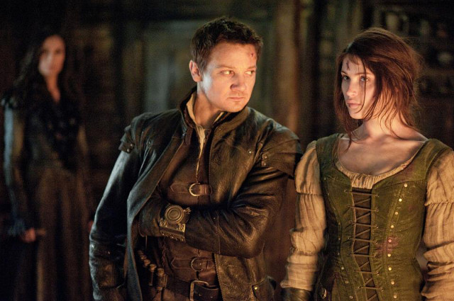 WITCH-HUNTING SIBLINGS. Jeremy Renner as Hansel and Gemma Arterton as Gretel. Photo from the 'Hansel and Gretel: Witch Hunters' Facebook page
