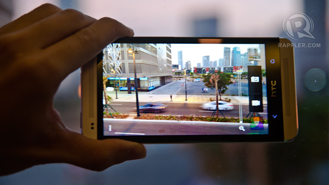 ULTRAPIXEL. Larger light sensors on the HTC One give it the ability to take great low light photos. Photo by Rappler / Michael Josh Villanueva
