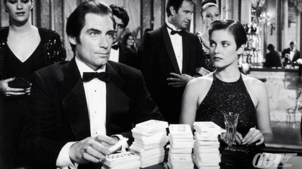 LICENSE TO KILL. Timothy Dalton as James Bond in 1989. Image from the James Bond 007 Facebook page