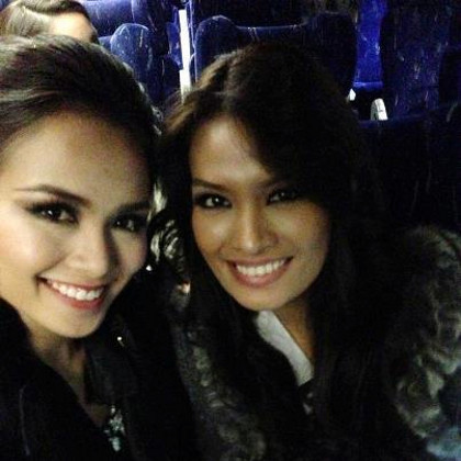 With Miss Vietnam Diem Luong Huu. Photo from the Janine Mari Raymundo Tugonon Facebook page