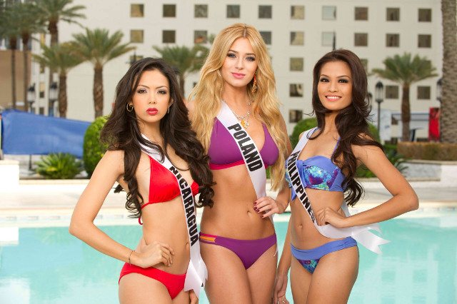 Poolside at the Planet Hollywood Casino and Resort, Las Vegas. Photo courtesy of the Miss Universe Organization LP, LLLP