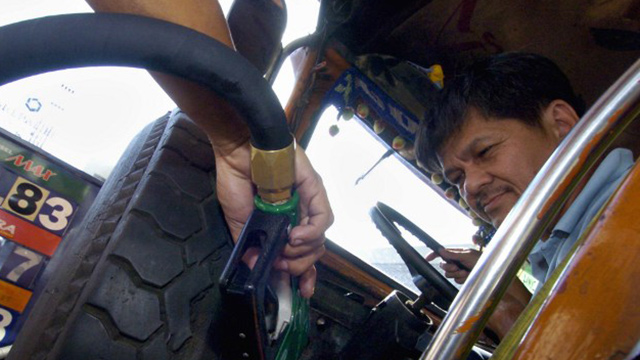 VULNERABLE. When oil prices rise, jeepney drivers are the worst-hit. Photo by Joel Nito/Agence France-Presse