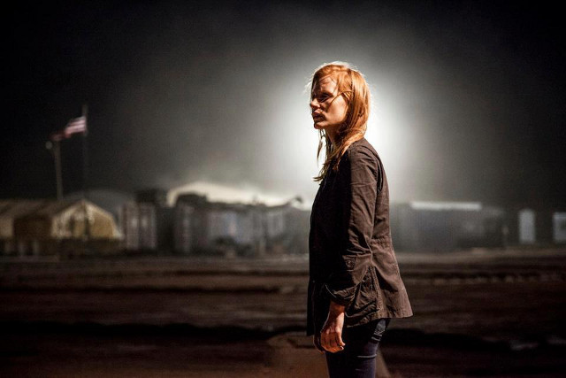 INSTRUMENTAL WOMAN. Jessica Chastain in 'Zero Dark Thiry' for which she won Best Actress in a Motion Picture - Drama in the 70th Golden Globes. Photo from the 'Zero Dark Thirty' Facebook page