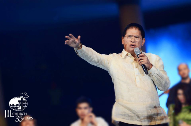 NEW 'REVOLUTION.' Bro Eddie Villanueva calls for a 'revolution of righteousness' on his group's 35th anniversary. Photo from JIL's Facebook page
