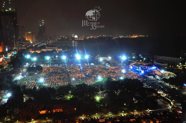 HUGE GATHERING. JIL members fill the Quirino Grandstand on their 35th anniversary. Photo from JIL's Facebook page