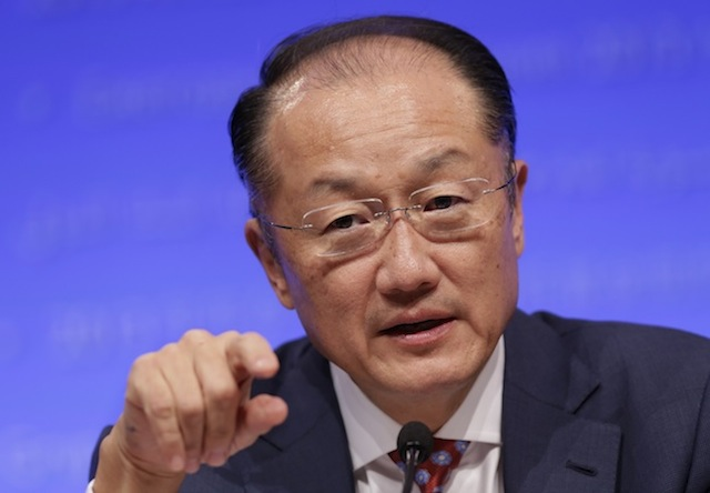 DO SOMETHING, DON'T ARGUE. In this file photo, World Bank Group President Jim Yong Kim speaks during the final news briefing of the International Monetary Fund (IMF) and World Bank Annual Meetings 2013 in Washington, DC, USA, 12 October 2013. EPA/Chris Kleponis