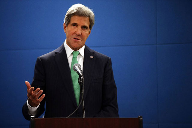 QUICKLY. US Secretary of State John Kerry hopes the chemical weapons can be removed from the region as rapidly as possibly. File photo by AFP/Spencer Platt/Getty Images