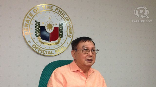 MONEY MOVING. Former Sen Joker Arroyo refuses to say whether there was bribery for Corona's conviction but he said u0022money was moving during and after the trial.u0022 Photo by Ayee Macaraig/Rappler