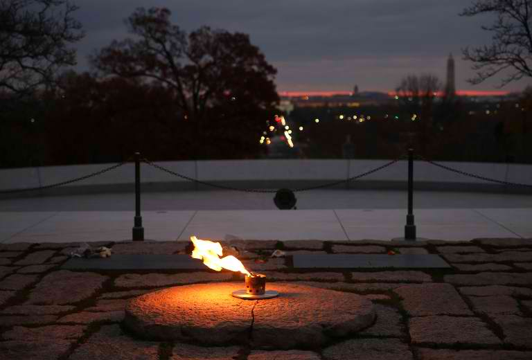 LASTING LEGACY.The eternal flame burns at the gravesite of the 35th President of the United States John F. Kennedy, at Arlington National Cemetery, on November 19, 2013, in Arlington, Virginia. Mark Wilson/Getty Images/AFP