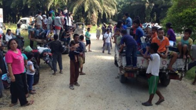 VILLAGERS FLEE CRACKDOWN. Residents of nearby villagers left their homes before the military operation started in Lahud Datu. Photo courtesy of Asean Military Defense Review site on Facebook