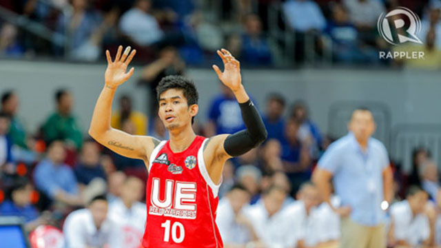 GUILTY, TOO. Casajeros was also seen serving his suspension while watching UE. Photo by Rappler/Mark Marcaida.