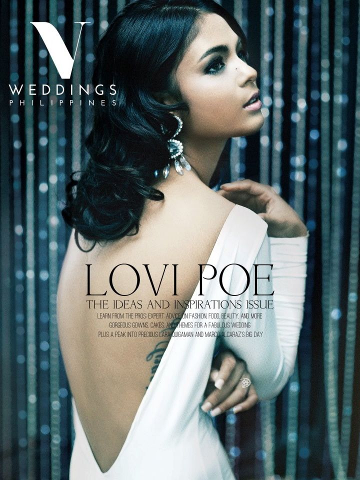 HER FIRST WEDDING MAG COVER. Lovi on the cover of V Weddings magazine, photographed by Cholo dela Vega
