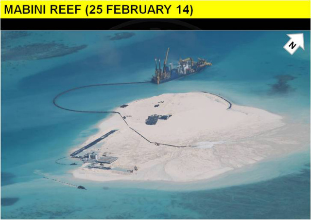 A YEAR LATER. China's construction activities become more apparent on February 25, 2014. Photo courtesy of DFA