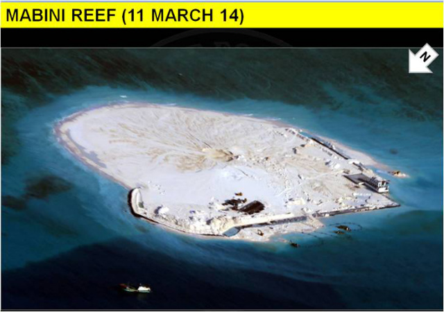 '30 HECTARES.' The Philippines slams China for its 'excessive reclamation' as shown in this photo dated March 11, 2014. Photo courtesy of DFA