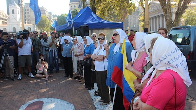 SEEKING JUSTICE. The mothers of Argentinians who 'disappeared' during the years of military rule still meet every Thursday at the Plaza de Mayo in Buenos Aires to remember their lost children. Photo from the association's Facebook page