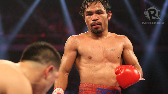 TAXES. Authorities are after Manny Pacquiao who is being accused of failing to pay his tax obligations. File photo by Mike Young/Team Pacquiao
