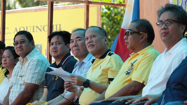 FOCUS ON REFORMS. Liberty Party stalwarts believe focusing on reforms will be enough to sway votes for the President's chosen one in 2016. Malacau00f1ang Photo Bureau