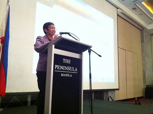 TAKE ACTION. Maria Ressa, who known for her zero tolerance approach to corruption, urged firms to shine a light on bad business practices in the Philippines.