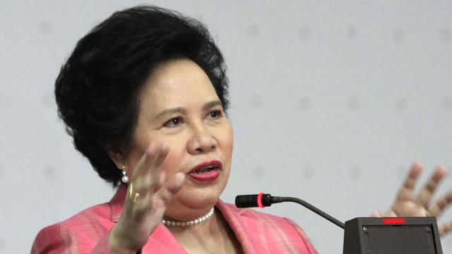GOD'S HANDS. Santiago says, 'God never asks us for an opinion. God just goes ahead and does whatever is in his hands.' Photo by Romeo Bugante/Senate PRIB