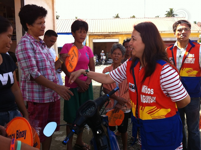 UNA senatorial candidate Mitos Magsaysay during a campaign sortie in Compostela Valley, March 19, 2013. RAPPLER/Ayee Macaraig