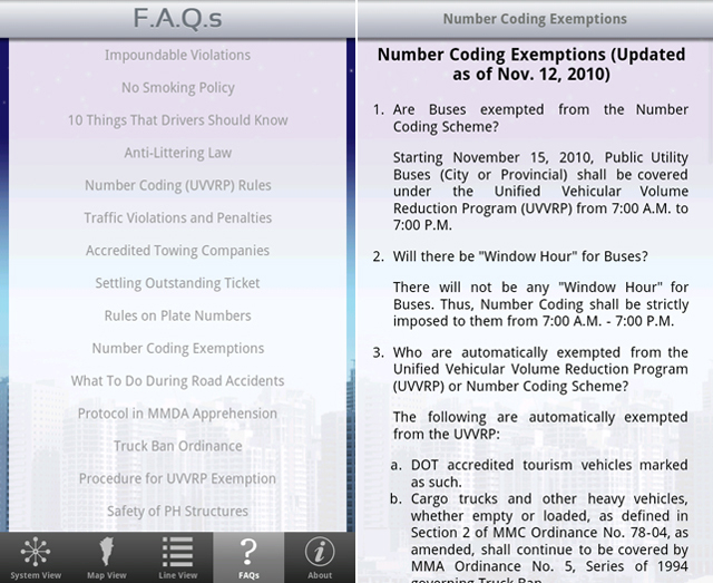 POLICIES. Learn more about Manila road rules through the MMDA app.