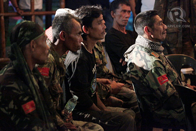 SURRENDEREES: Members of the Moro National Liberation Front (MNLF) from Basilan. Photo by LeAnne Jazul