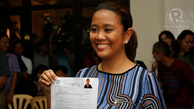 4TH BINAY. If elected senator, Nancy Binay will be the fourth Binay in government. Yet she says she is simply subjecting herself to voters' choice during the elections. Photo by Don Regachuela