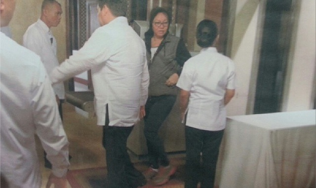 IN DANGER: Janet Lim Napoles says she fears for her life. Malacau00f1ang photo