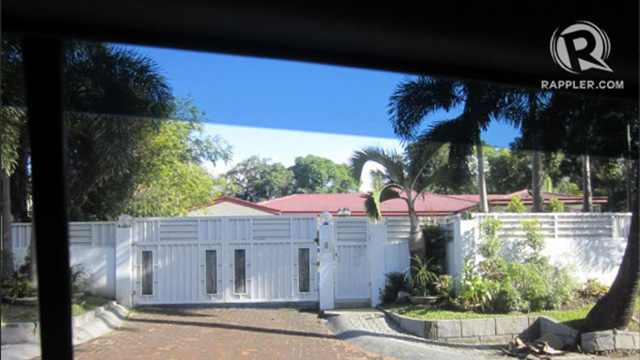 FORBES PROPERTY. This is the Forbes house owned by Janet Lim-Napoles Msgr Josefino Ramirez is renting according to documents. Photo by Rappler