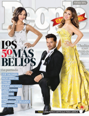 TIMELESS BEAUTY. The 'Mas Bellos' issue has a gatefold cover, also featuring celebrities Alicia Machado, Gaby Espino, and Silvia Navarro, among others. Photo from nuestrathalia.com