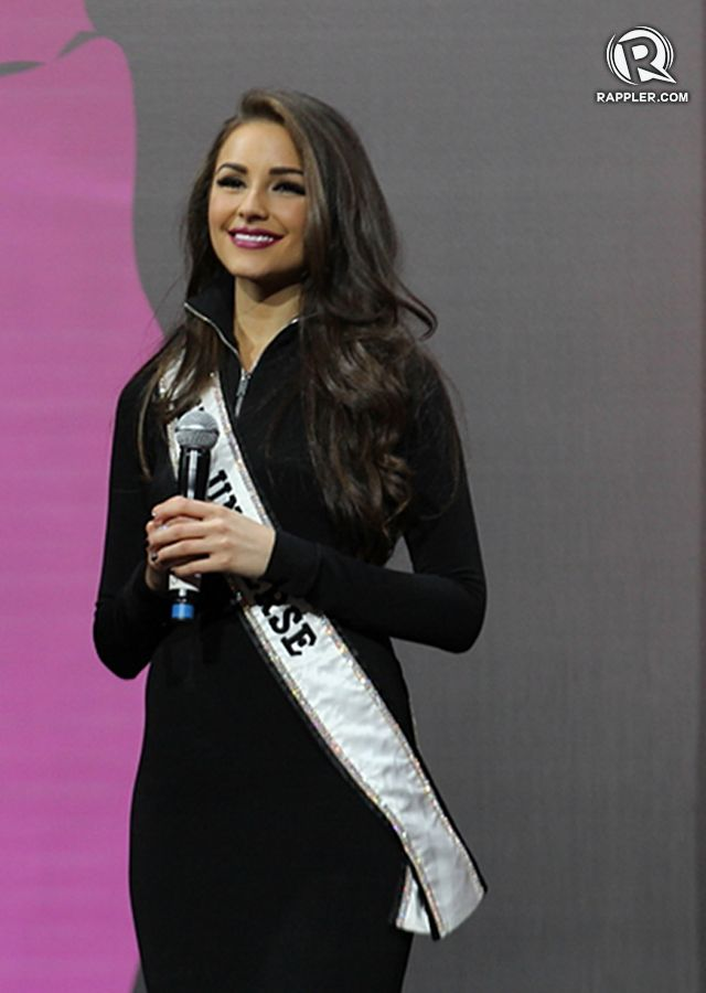 PRE-CORONATION NIGHT EVENT. Reigning Miss Universe Olivia Culpo co-hosts the National Costume competition in Vegas Mall, Moscow, Russia. All photos for Rappler by Jory Rivera/OPMB
