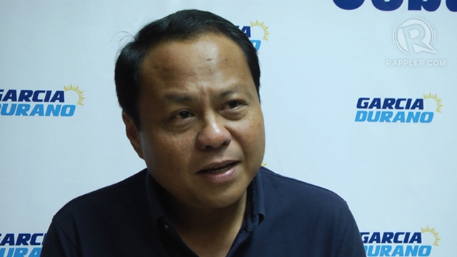 CONTINUING LEGACY. Cebu 3rd District Rep Pablo John u201cPJu201d Garcia vows to continue the legacy of his sister, suspended Gov Gwen Garcia, if he wins as governor. Photo by Rappler/Franz Lopez