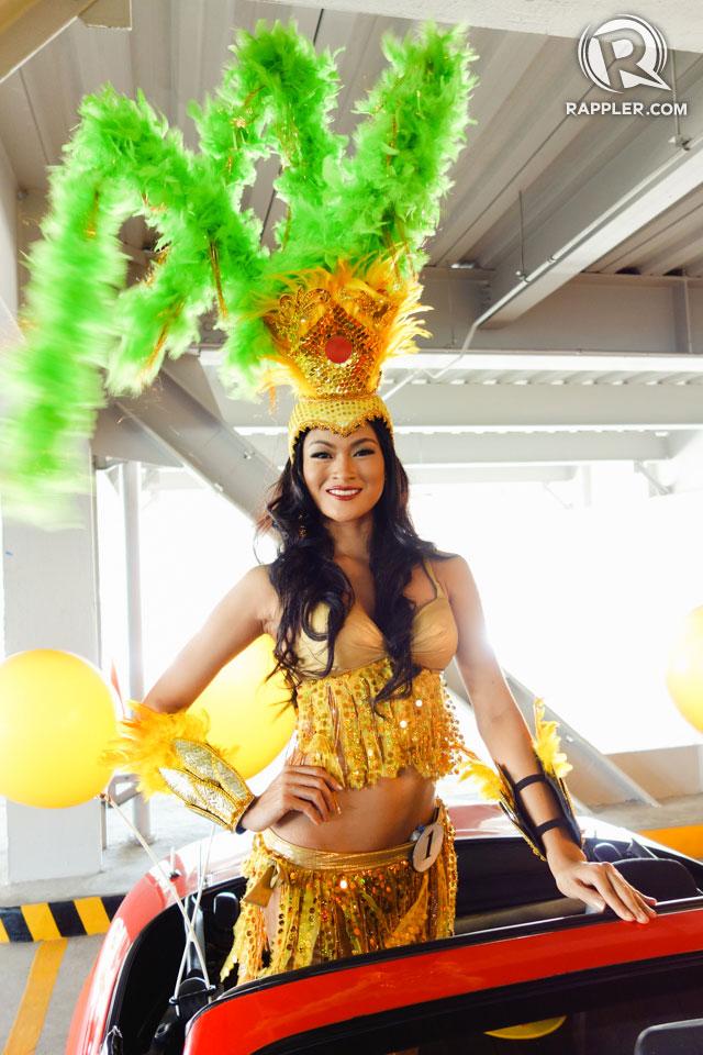 PARADE OF BEAUTIES. Ria Rabajante at the Parade of Beauties on April 6, Araneta Center, Cubao. Photo by Edric Chen