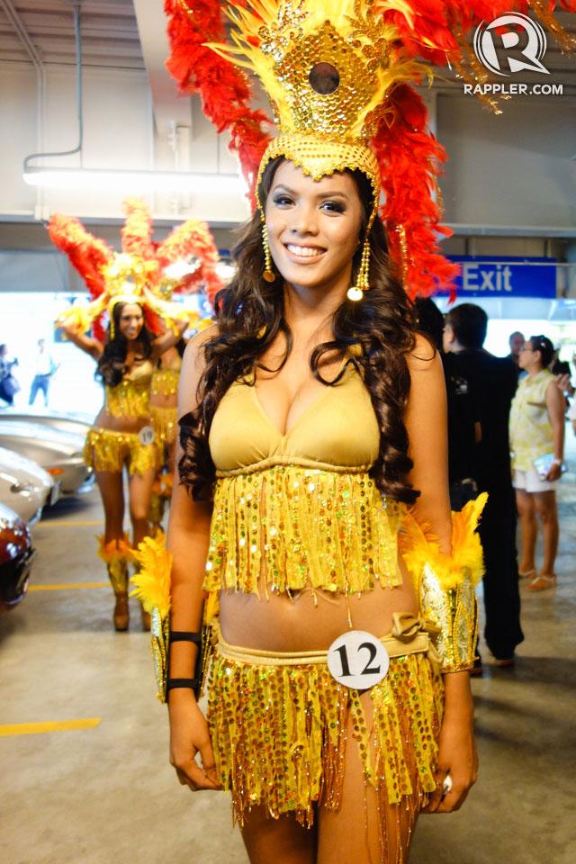 PARADE OF BEAUTIES. Camille Carla Nazar at the Parade of Beauties on April 6, Araneta Center, Cubao. Photo by Edric Chen