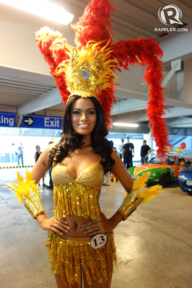 PARADE OF BEAUTIES. Charmaine Elima at the Parade of Beauties on April 6, Araneta Center, Cubao. Photo by Edric Chen