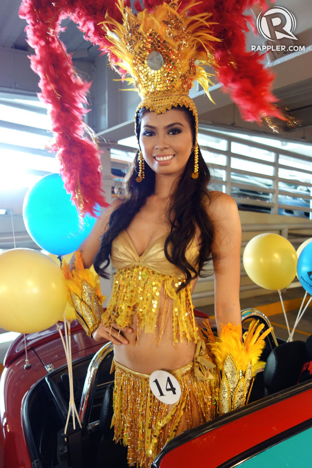 PARADE OF BEAUTIES. Mary Rose Pujanes at the Parade of Beauties on April 6, Araneta Center, Cubao. Photo by Edric Chen