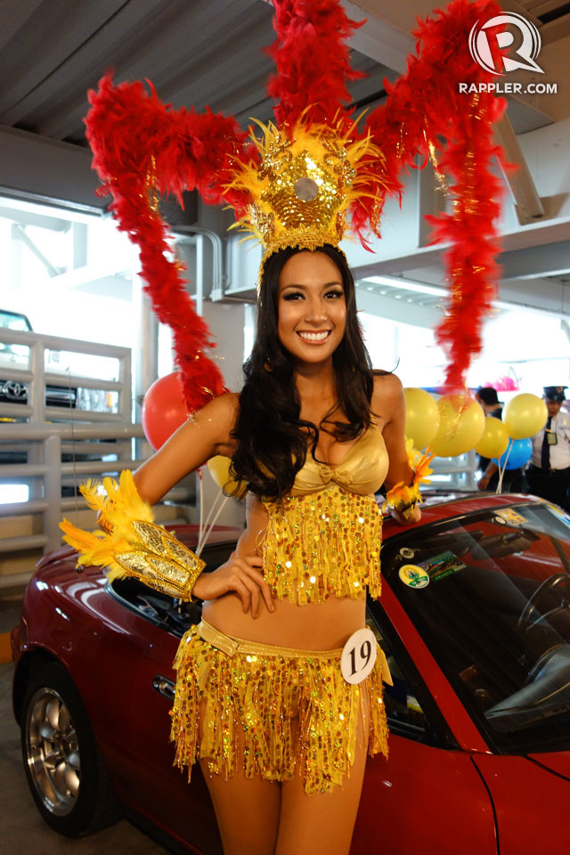 PARADE OF BEAUTIES. Hannah Ruth Sison at the Parade of Beauties on April 6, Araneta Center, Cubao. Photo by Edric Chen