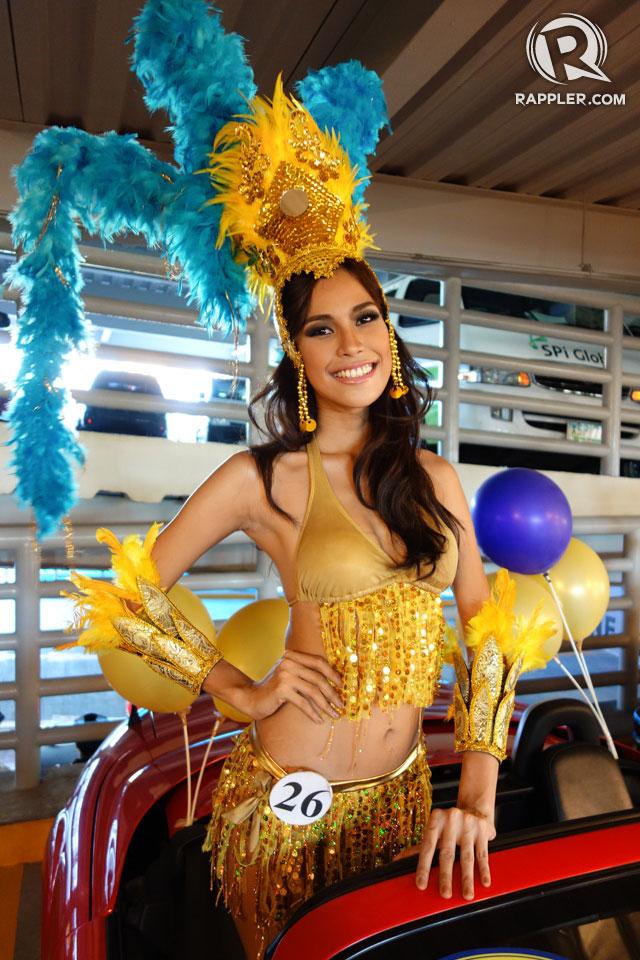 PARADE OF BEAUTIES. Anna Fernandina Buquid at the Parade of Beauties on April 6, Araneta Center, Cubao. Photo by Edric Chen