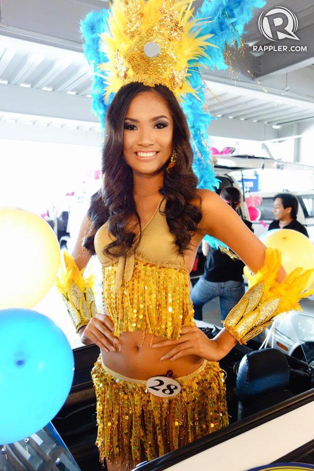 PARADE OF BEAUTIES. Mercegrace Raquel at the Parade of Beauties on April 6, Araneta Center, Cubao. Photo by Edric Chen