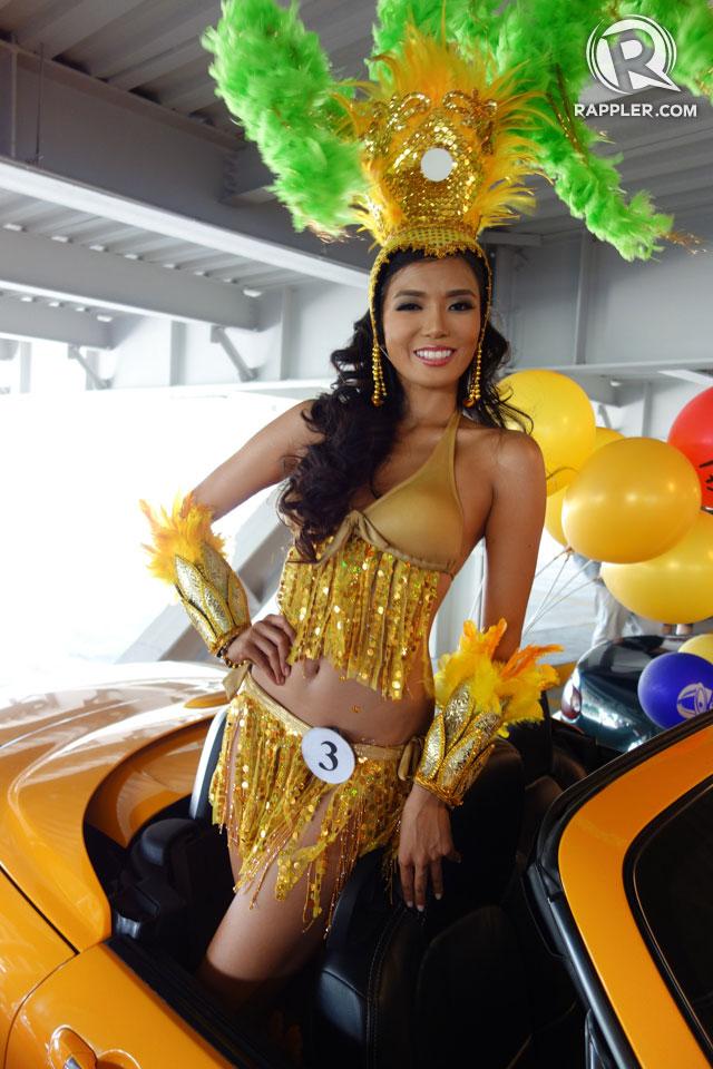 PARADE OF BEAUTIES. Zandra Flores at the Parade of Beauties on April 6, Araneta Center, Cubao. Photo by Edric Chen