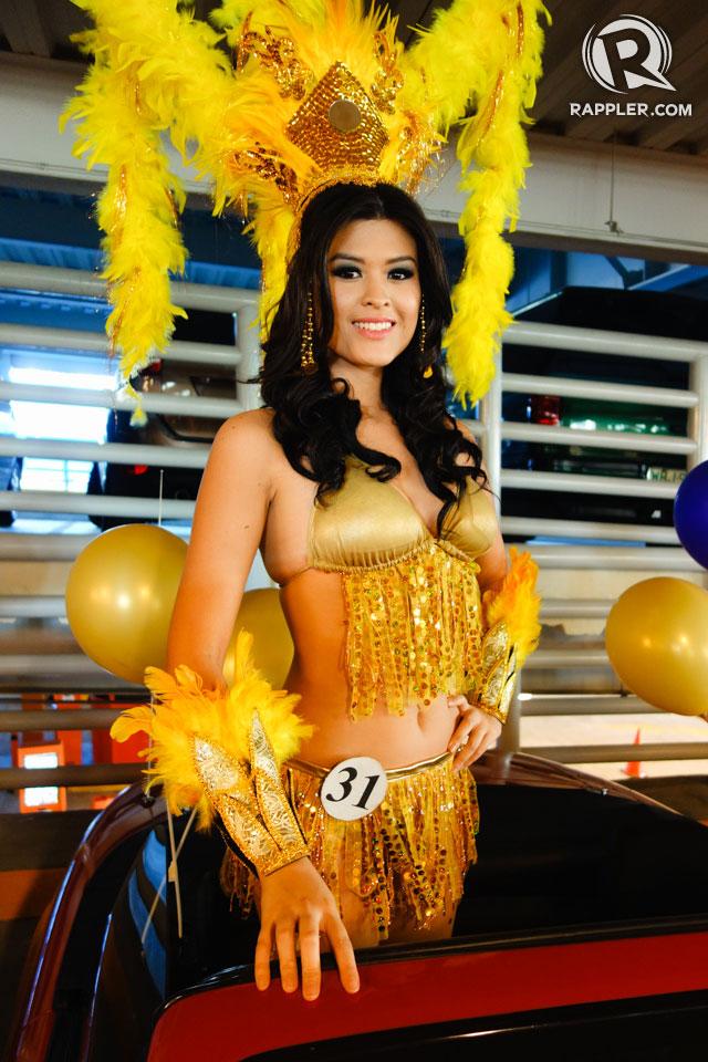 PARADE OF BEAUTIES. Maria Angelica de Leon at the Parade of Beauties on April 6, Araneta Center, Cubao. Photo by Edric Chen