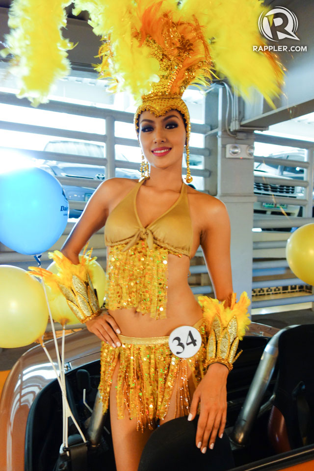 PARADE OF BEAUTIES. Grace Yann Apuad at the Parade of Beauties on April 6, Araneta Center, Cubao. Photo by Edric Chen
