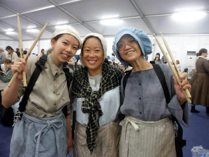 THE CHOSEN FEW. Patricia, middle, was one of the 15,000 chosen to perform in the Olympics opening ceremonies. Patricia Olabre.