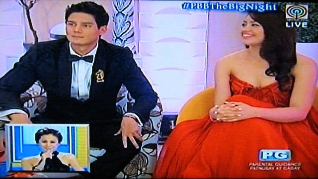 WAITING PATIENTLY. Daniel Matsunaga and Jane Oineza. Screengrab from ABS-CBN