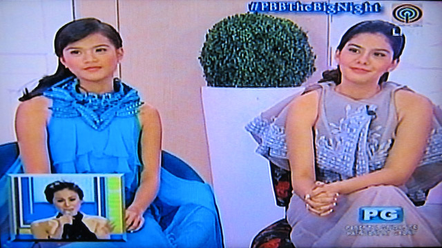 LOVELY LADIES. Maris Racal and Vickie Rushton. Screengrab from ABS-CBN
