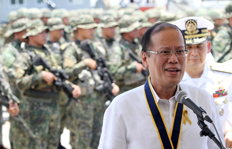 President Benigno S. Aquino III answers questions during the press briefing at the 115th Anniversary of the Philippine Navy at the Naval Station Pascual Ledesma, Fort San Felipe, Cavite City, May 21, 2013. Rey Baniquet /Malacau00f1ang Photo Bureau